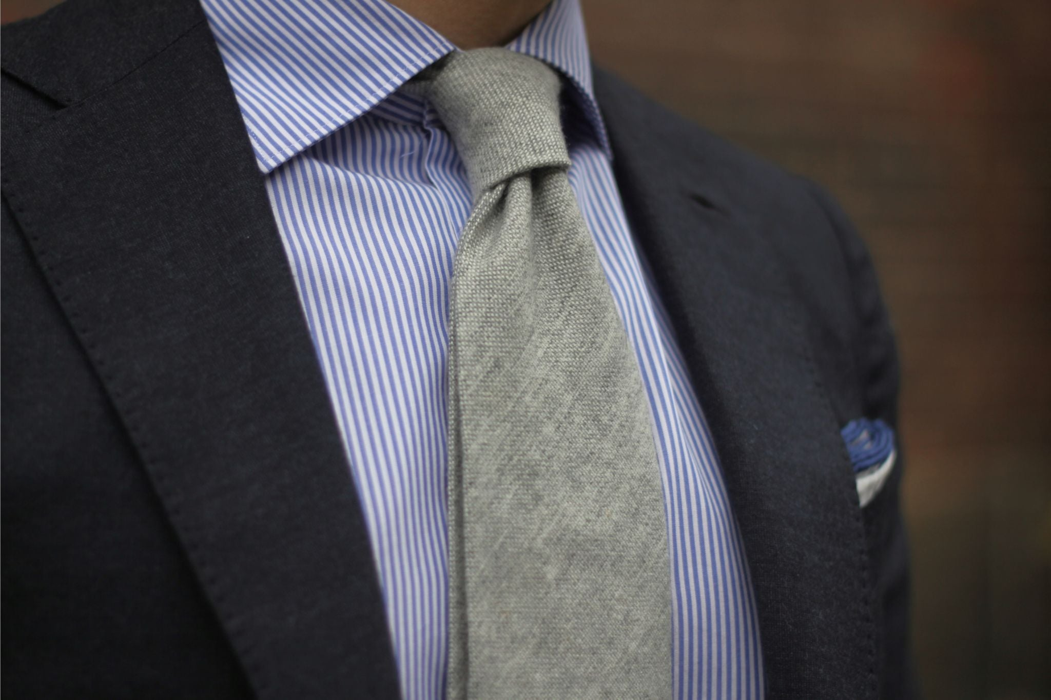 Gray suit with gray tie - Light gray cashmere tie Viola Milano