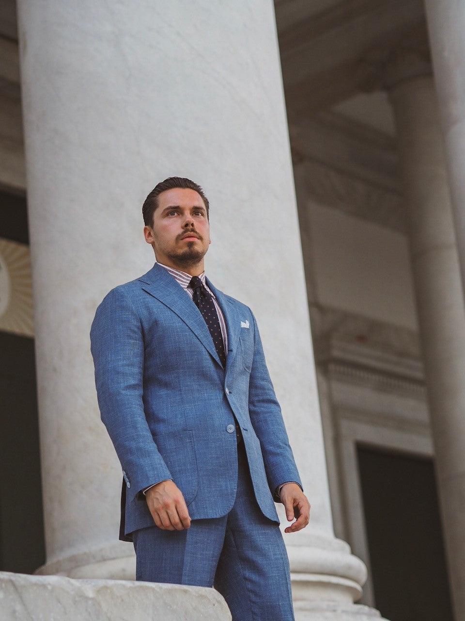 Light blue summer suit in Naples