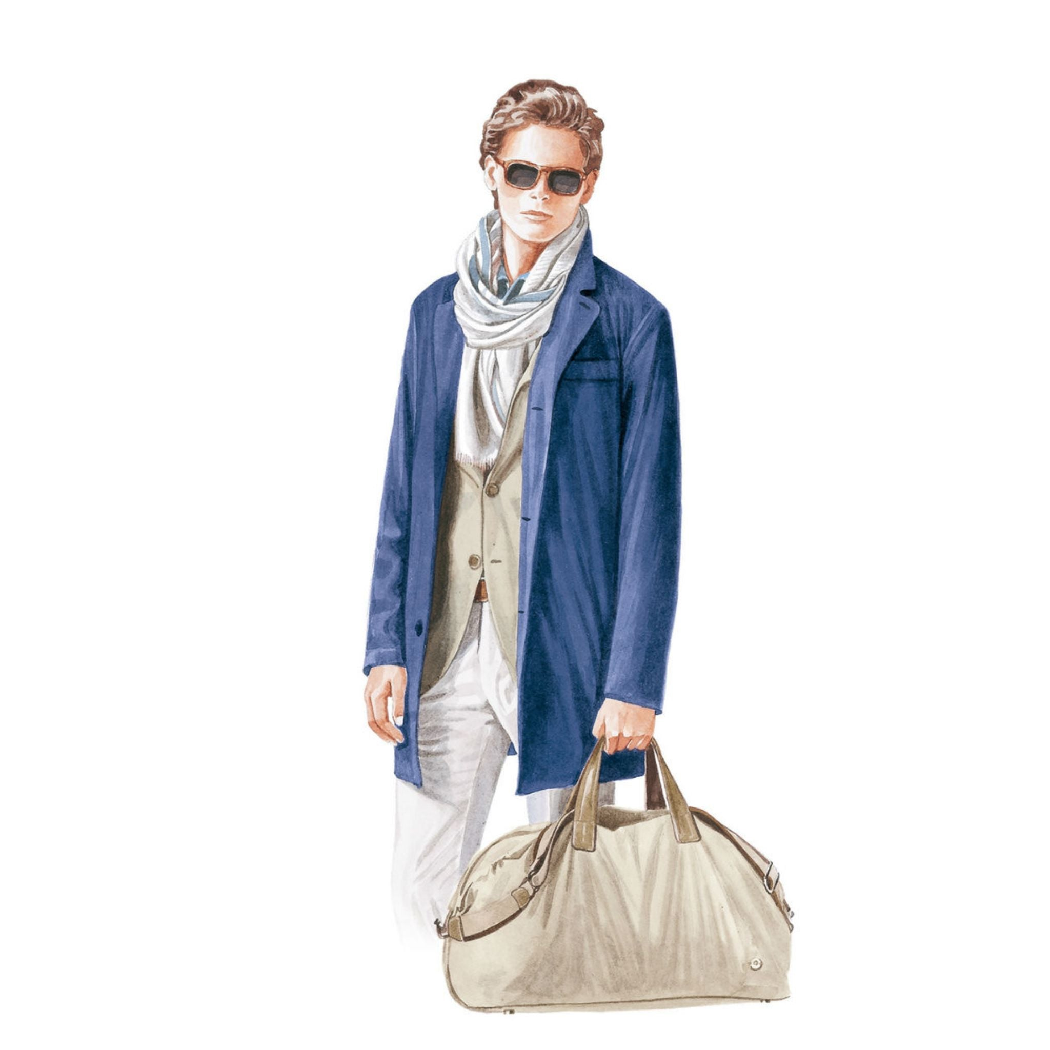 Loro Piana spring and summer 2016 blue overcoat