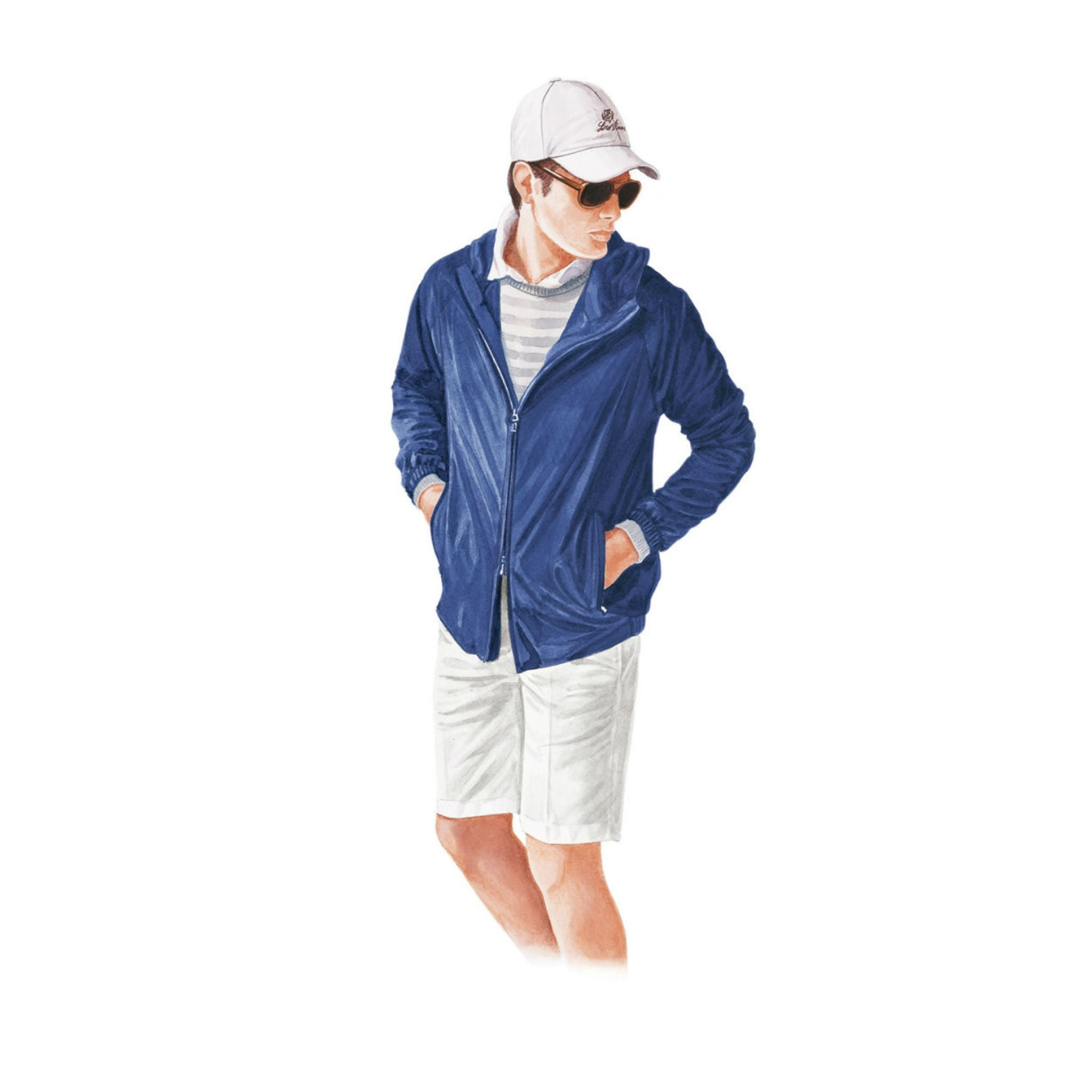 Loro Piana spring and summer 2016 shorts with blouson