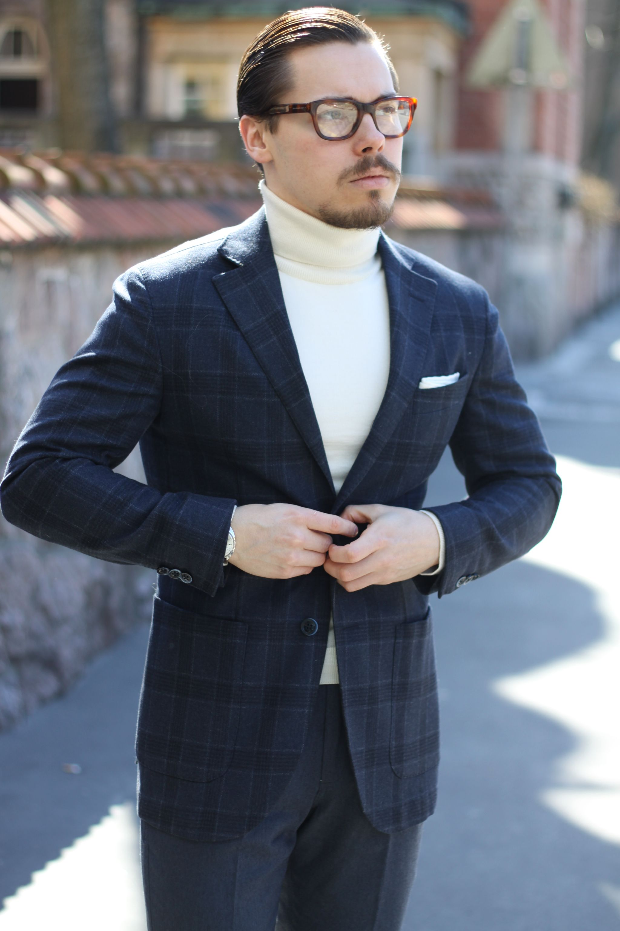 Lubiam checked sport coat