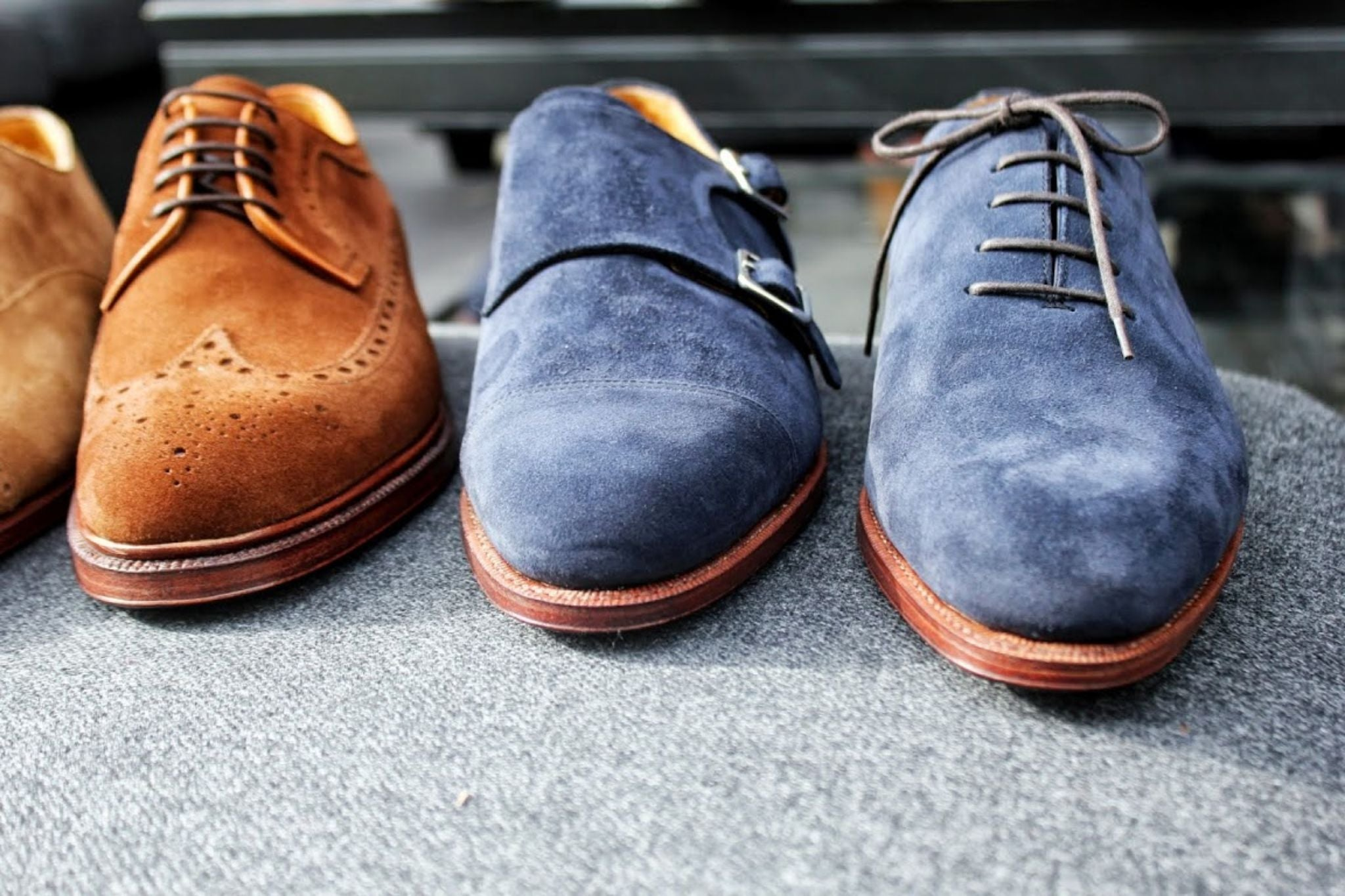 Meermin shoes - suede double monks