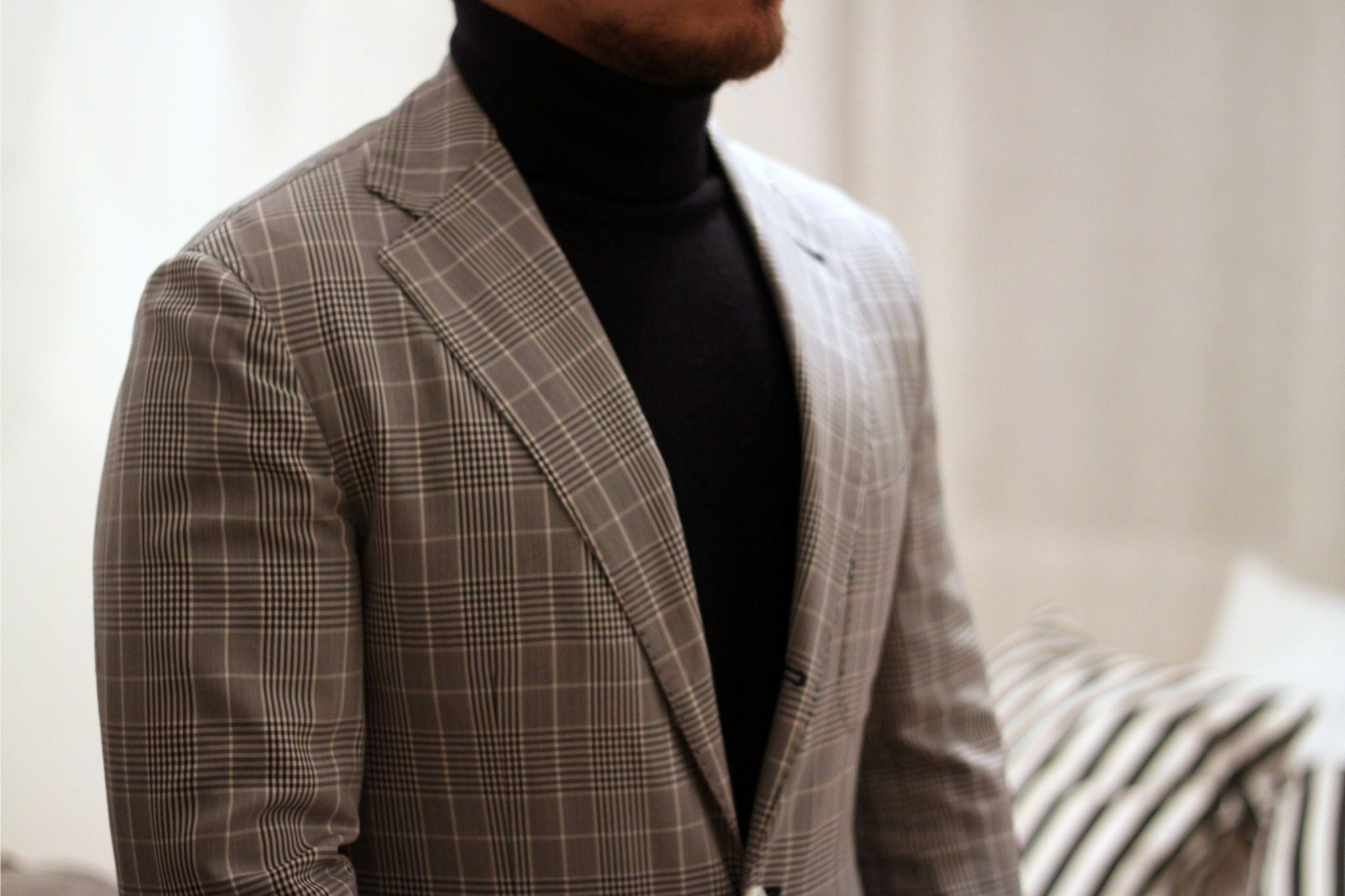 Pal Zileri sport coat with roll neck sweater