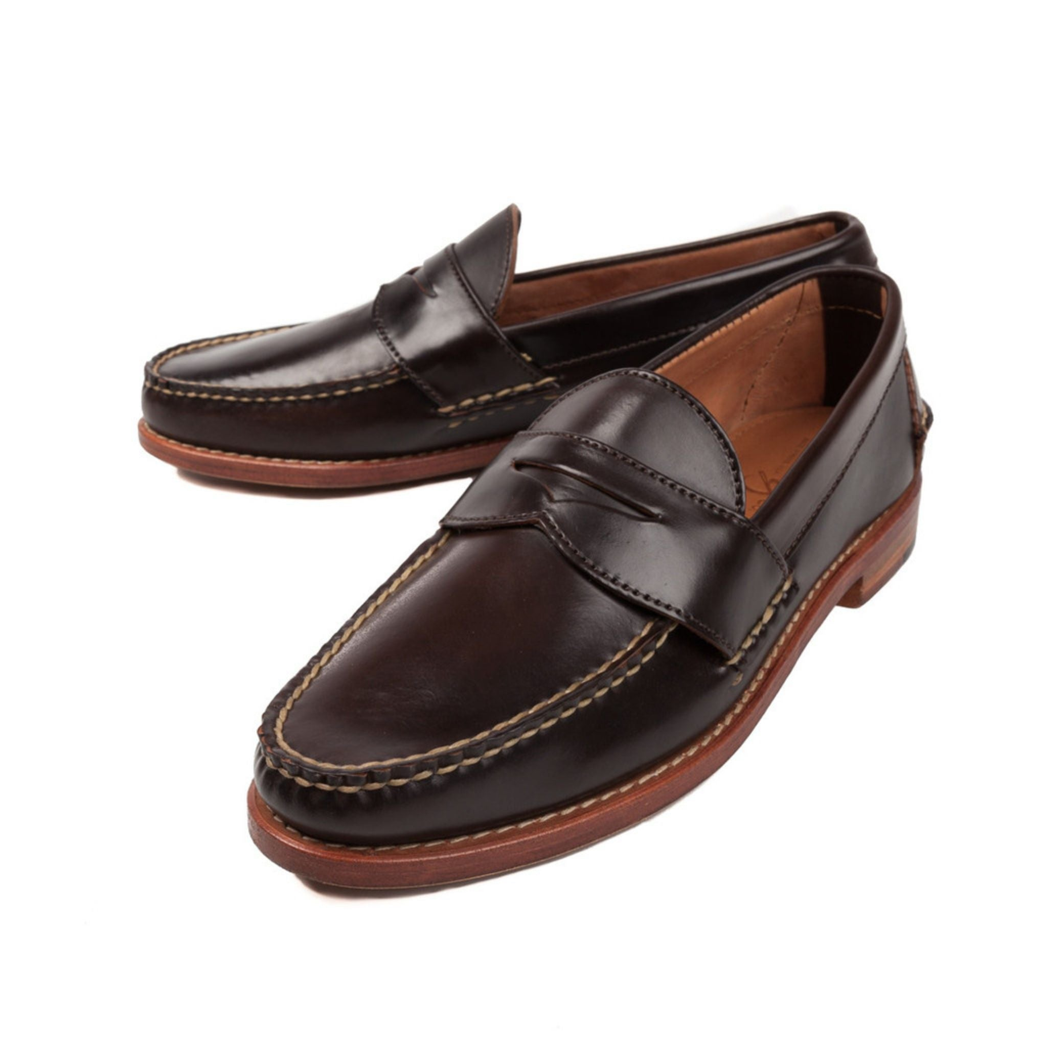 5x Penny loafers - Rancourt cordovan leather