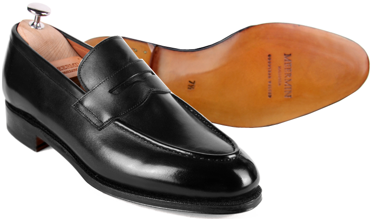 5x Penny loafers - Meermin black calf leather