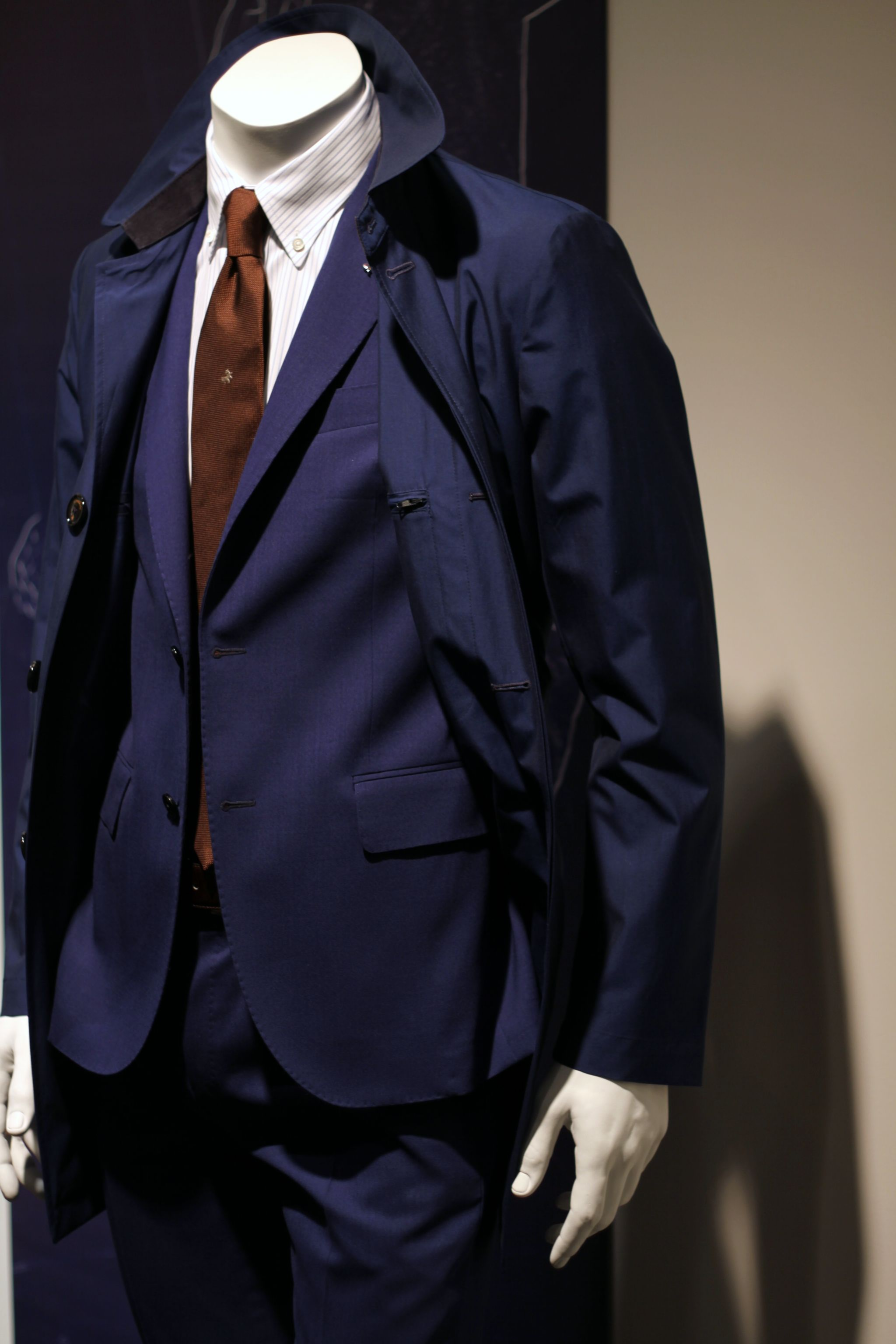 Pitti Uomo 90 Tombolini blue suit and overcoat
