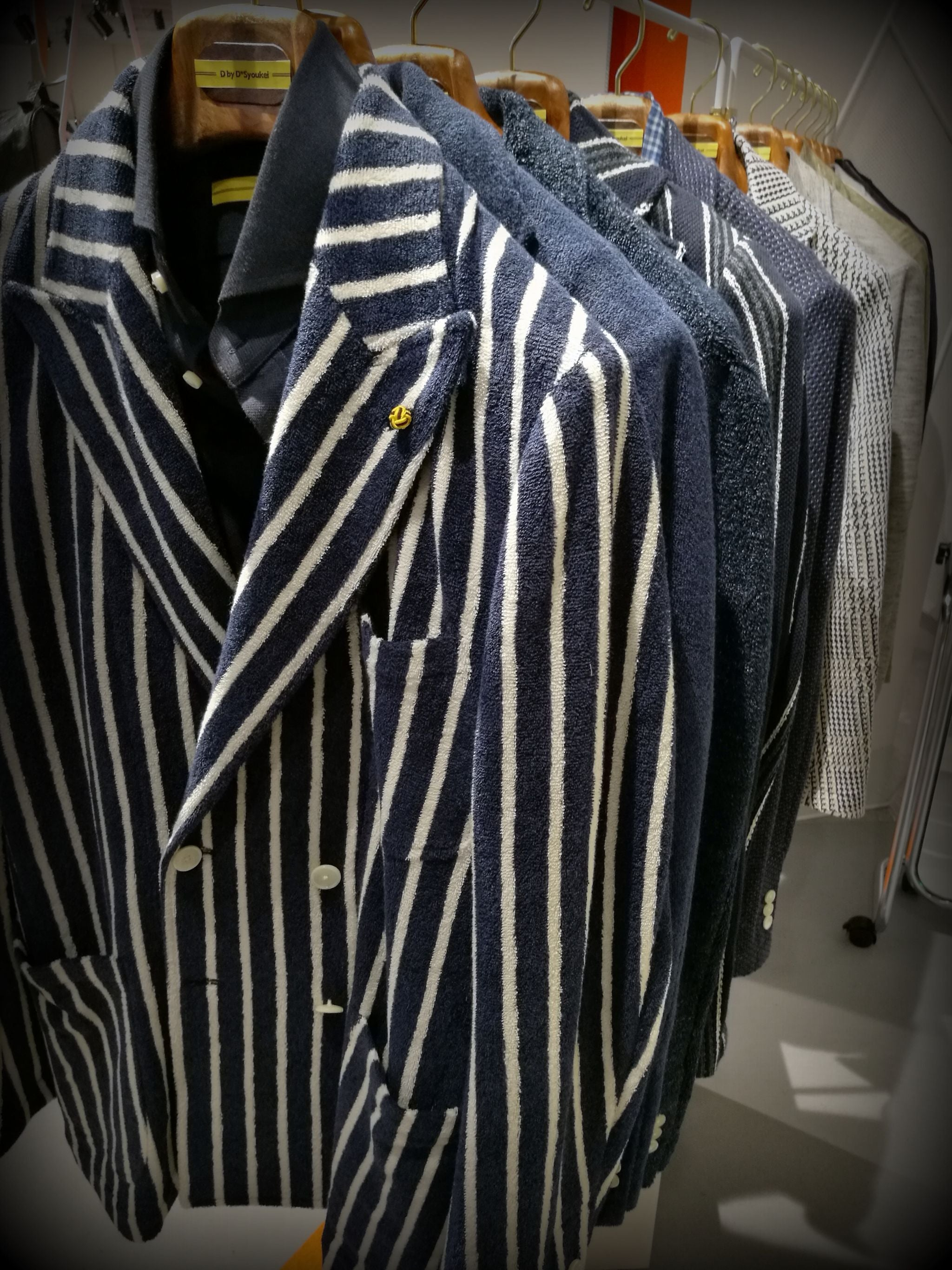 Pitti Uomo 90 trends - striped spor coats