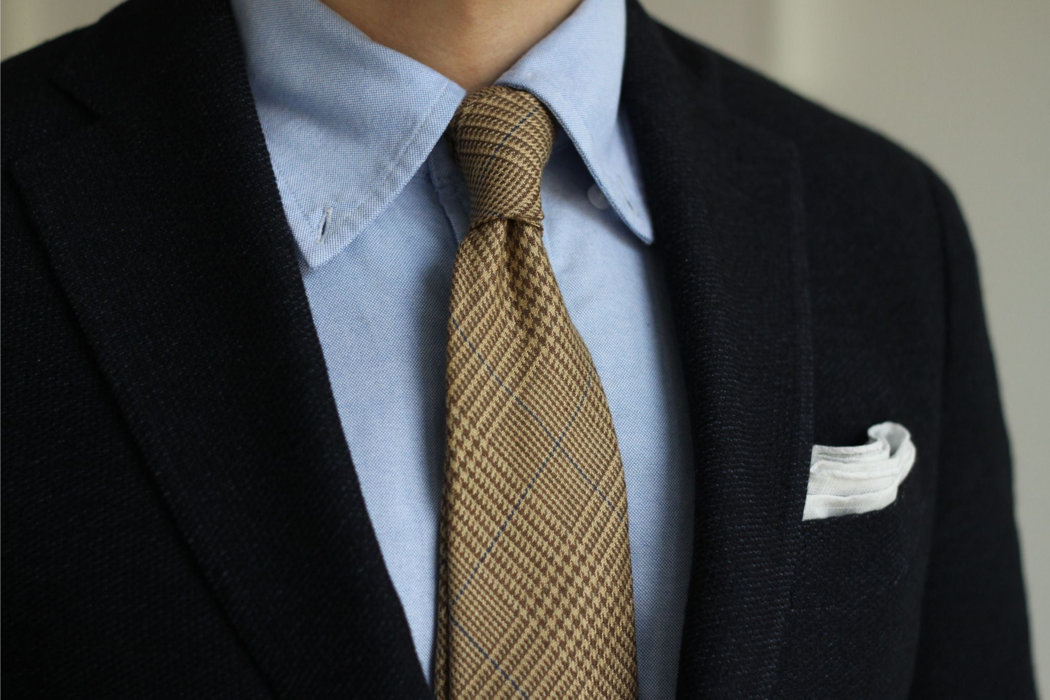 Prince of Wales wool tie