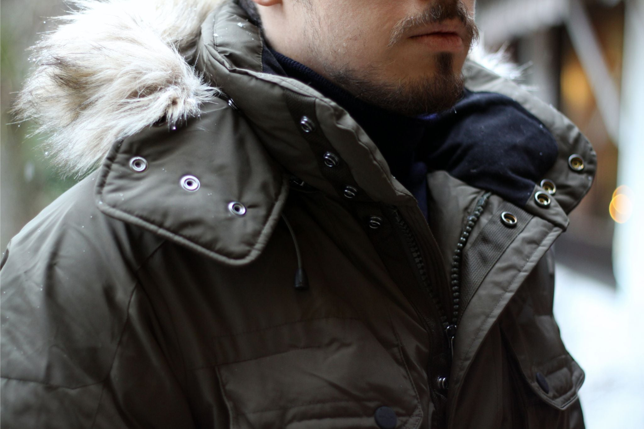 Ralph Lauren RLX down parka jacket - fur collar