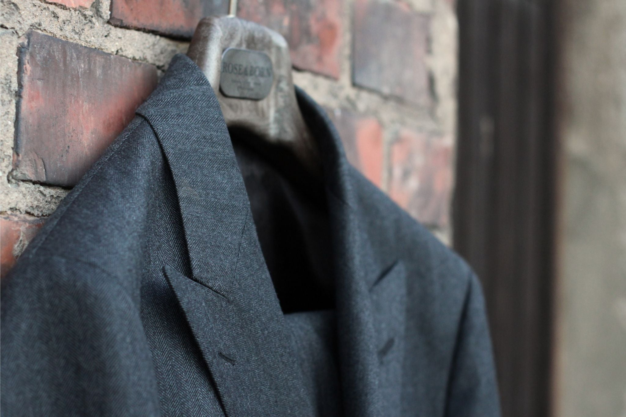 How to buy a business suit - Rose&Born herringbone wool suit