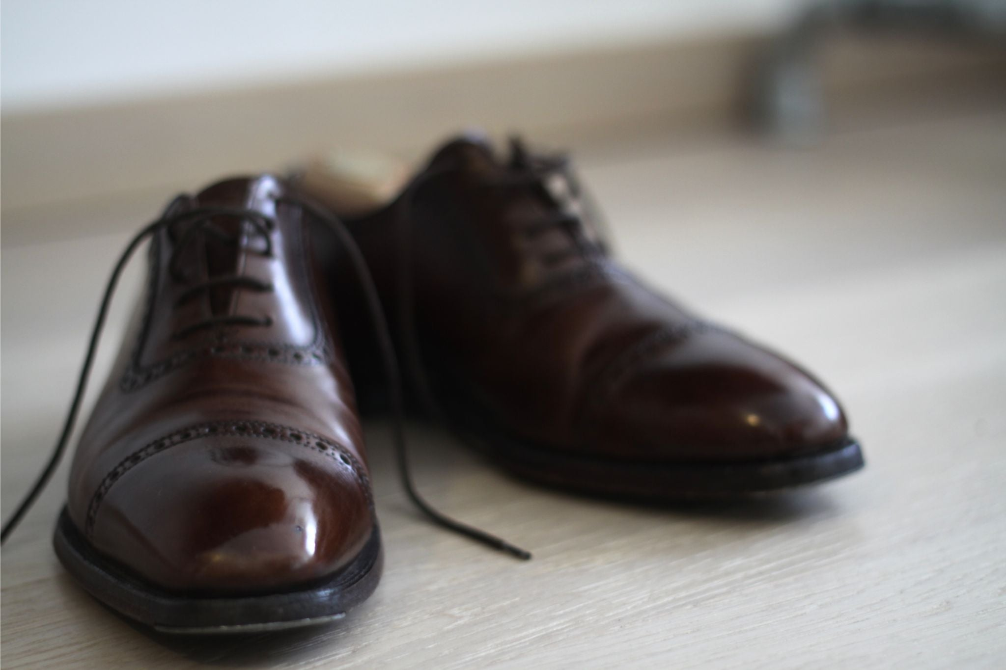 Spit shine - Crockett&Jones for Paul Smith brown oxfords