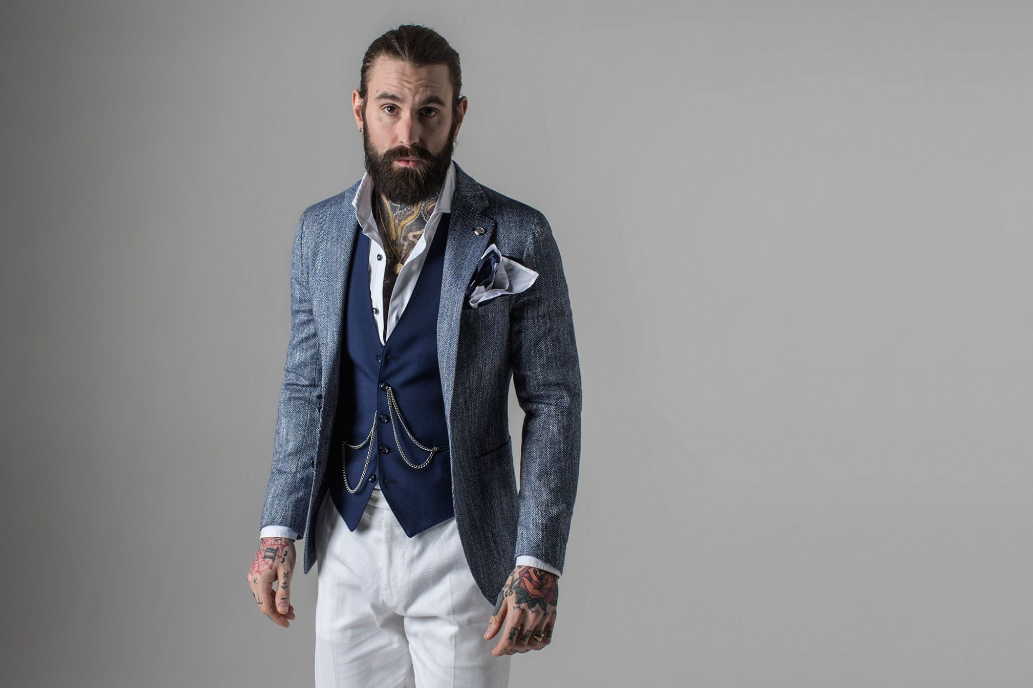 Tagliatore SS16 - gray sport coat with light colored trousers