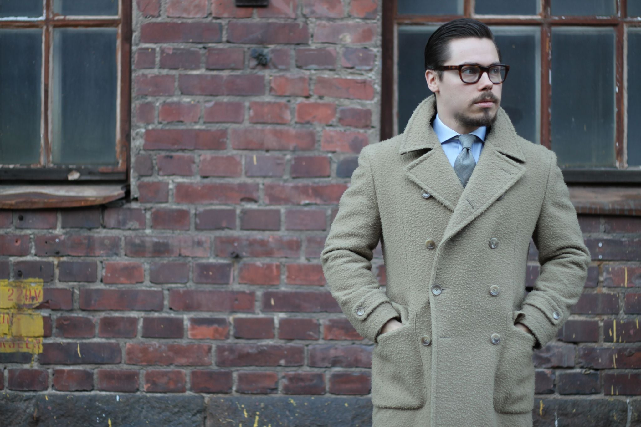 Tagliatore double-breasted casentino wool overcoat