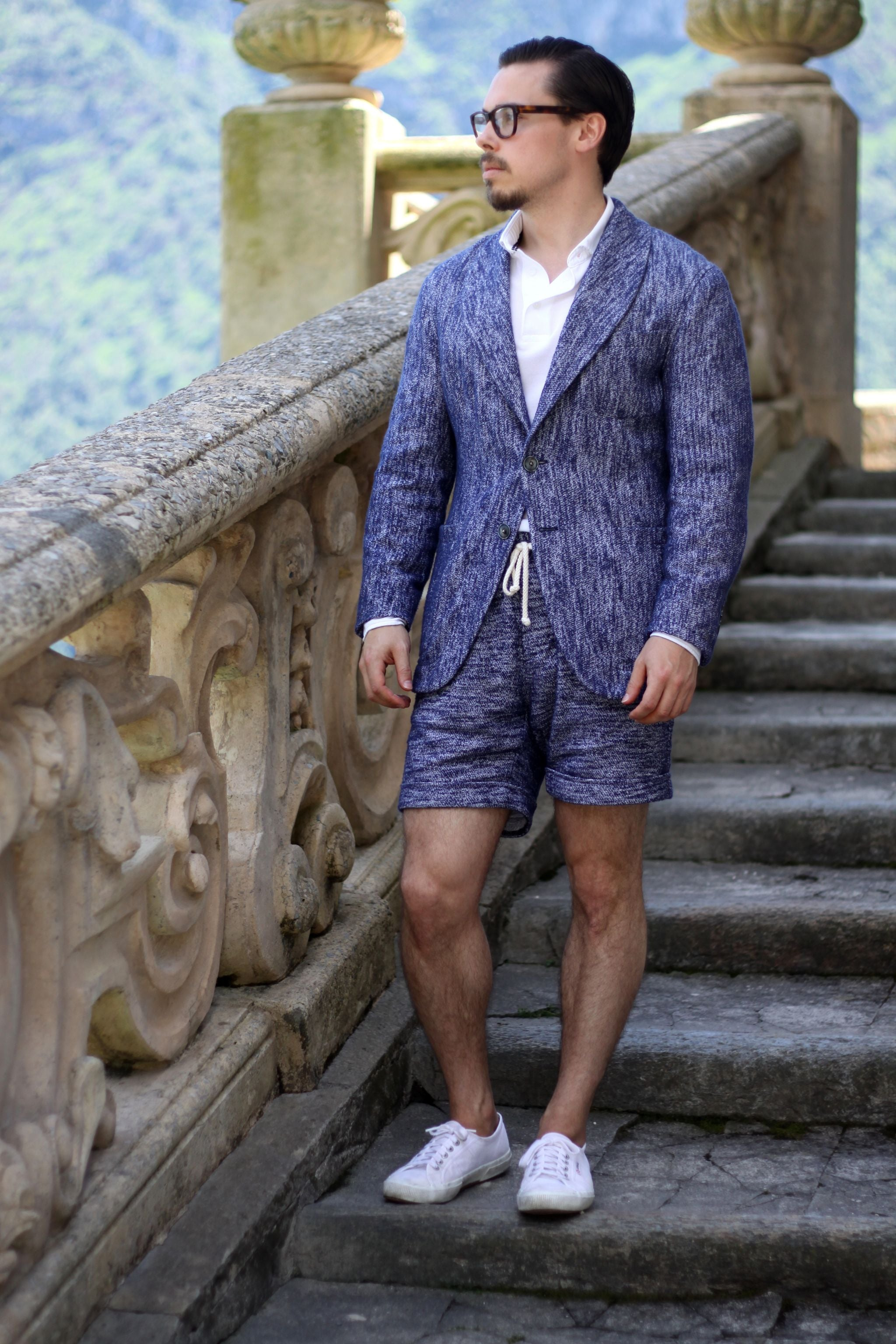 The GIGI - shawl collar suit jacket and shorts