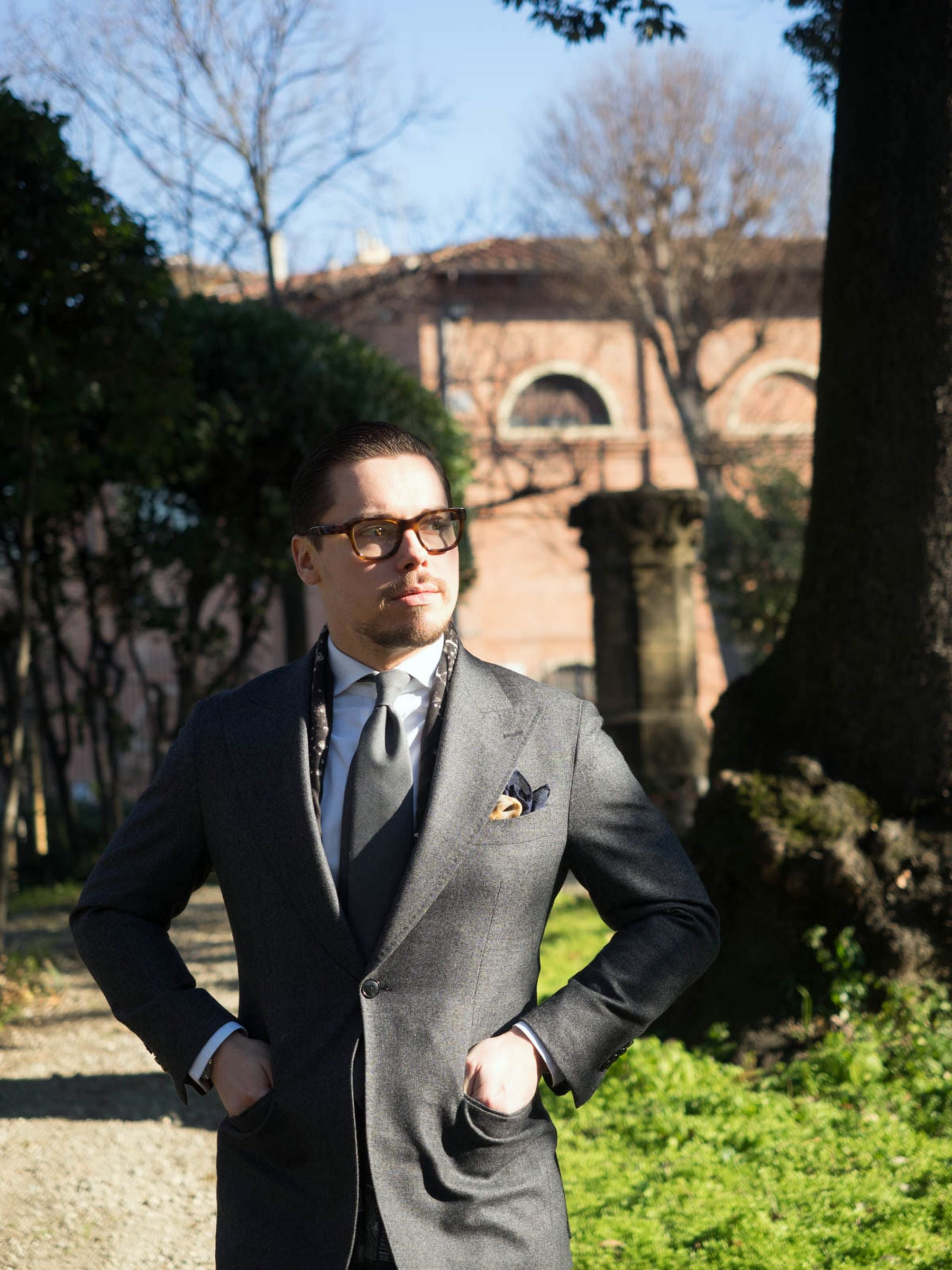 The one button suit - after the second day of Pitti Uomo 91 in the sunny Florence.