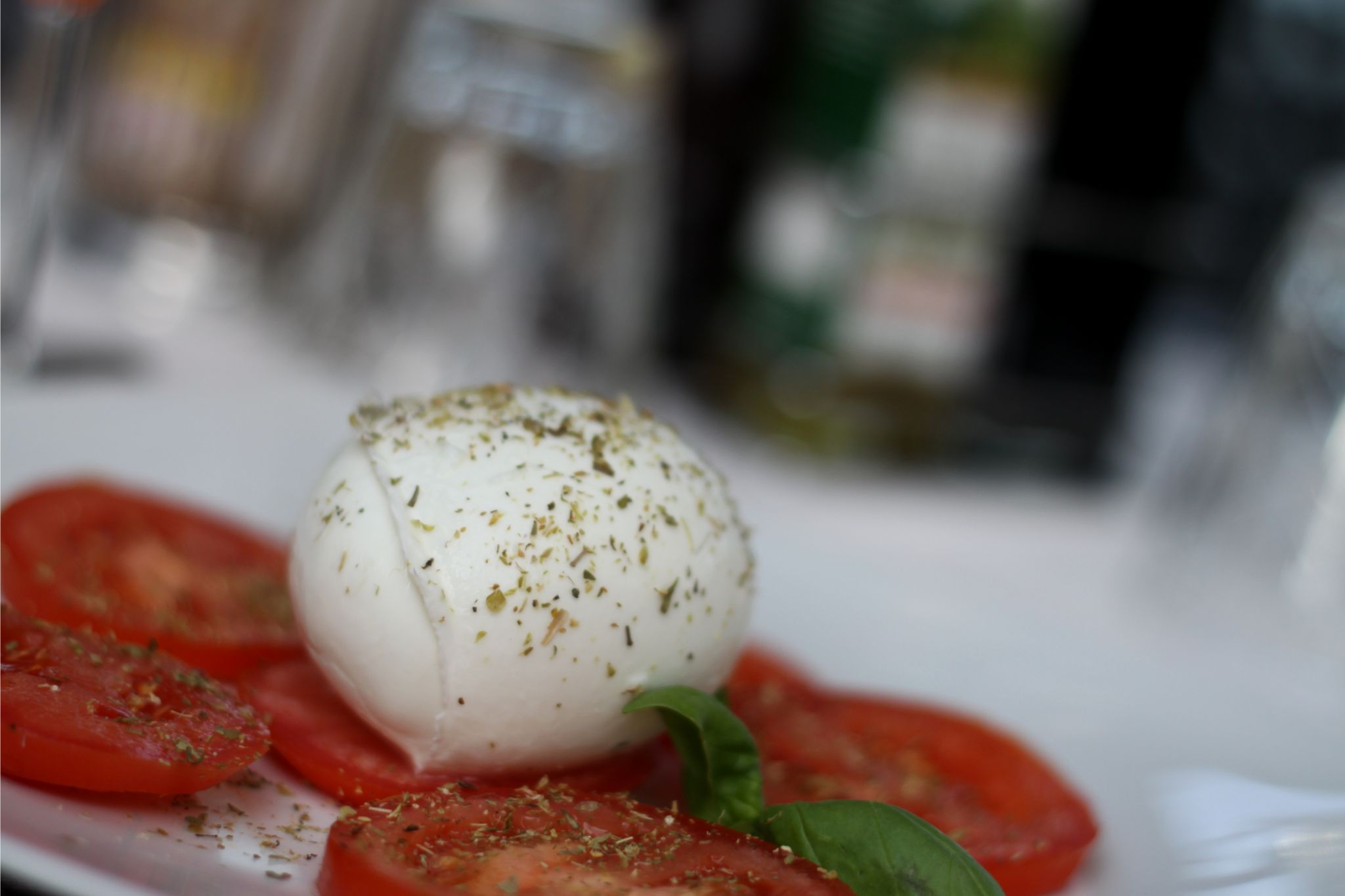 Tomato and mozzarella at Como
