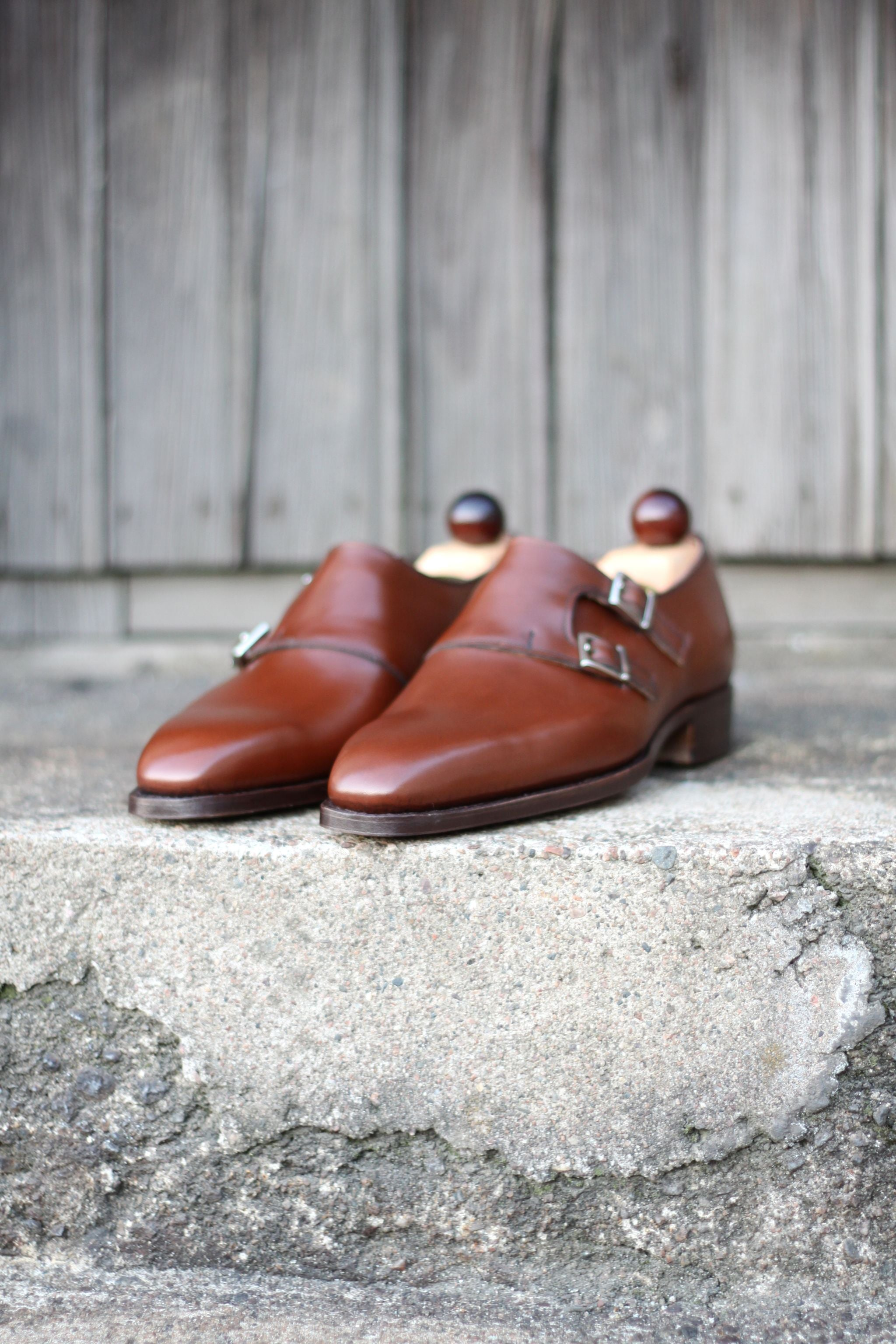 Vass shoes - brown double monks