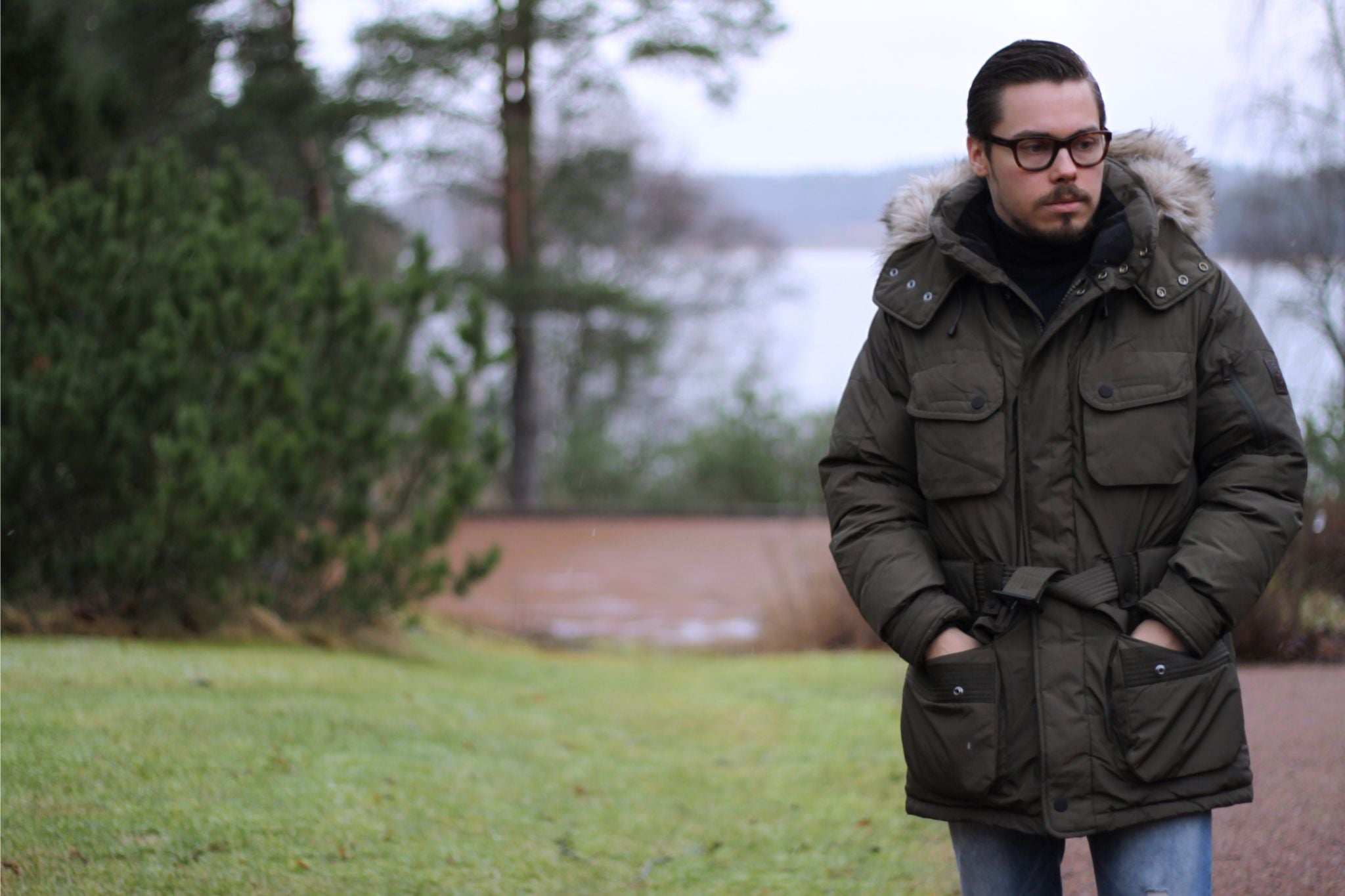 Wearing Ralph Lauren RLX Rover down parka jacket