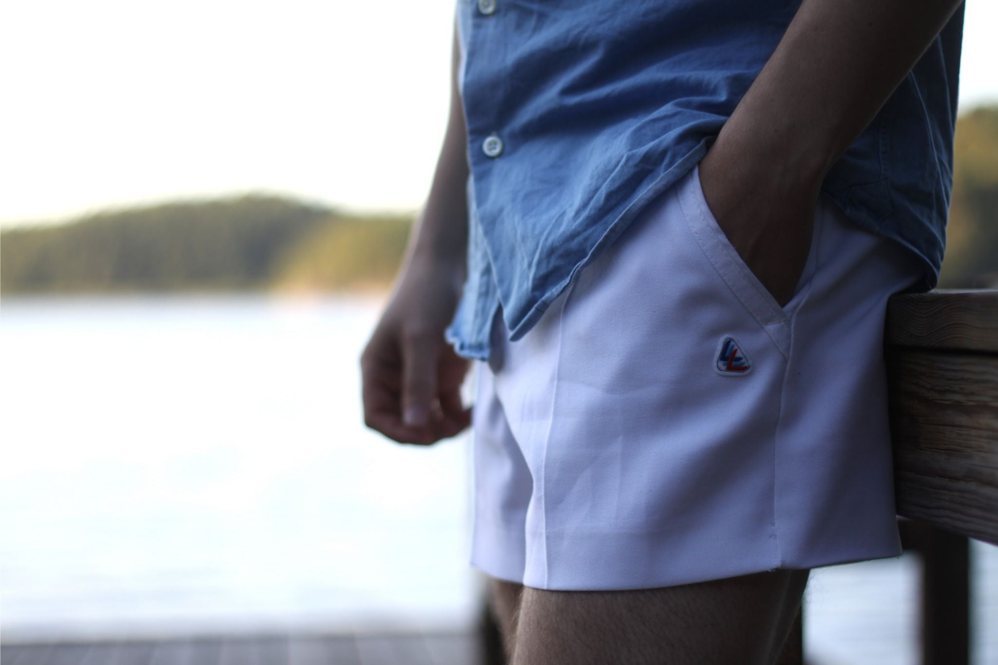 White tennis shorts for summer