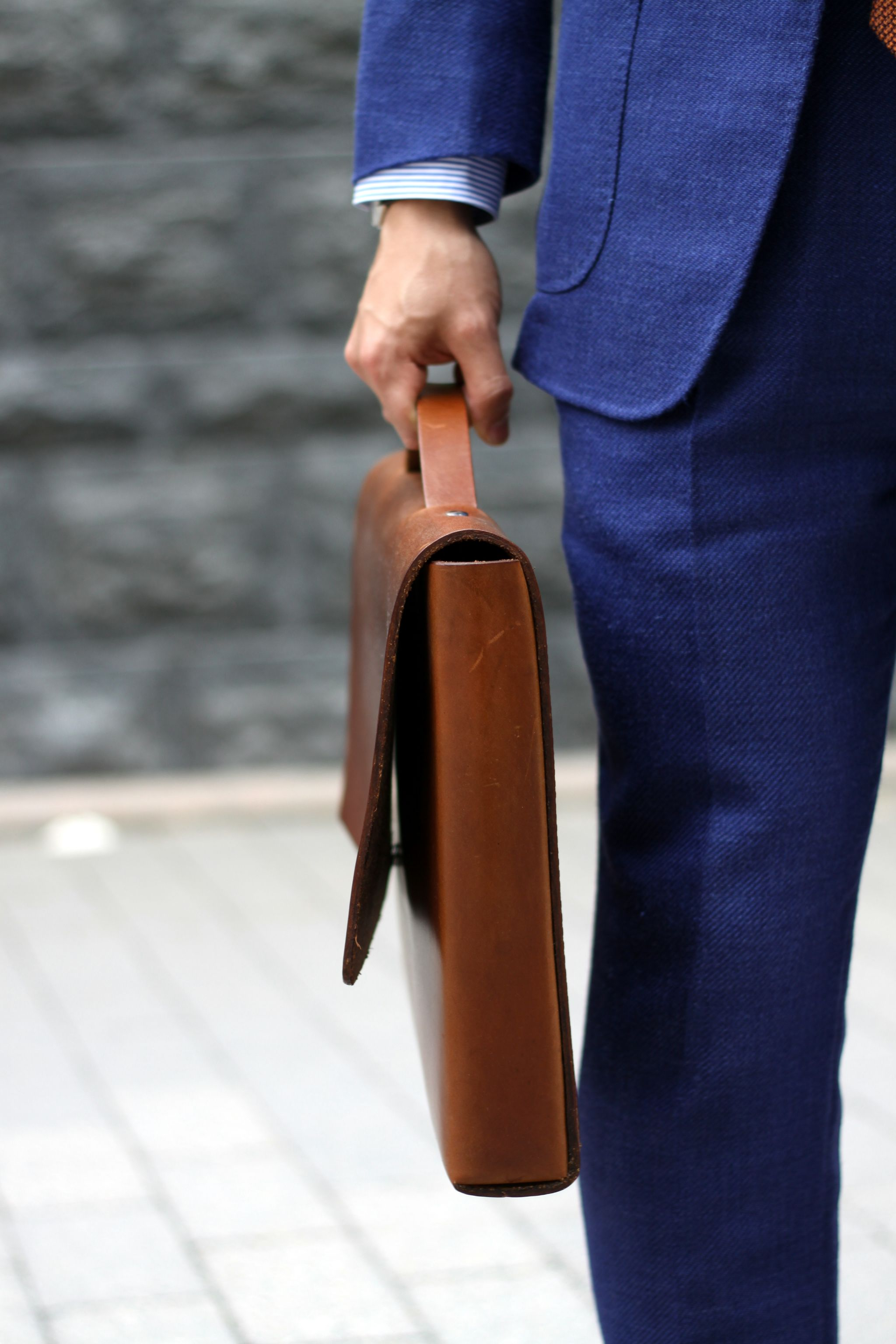 Winter Studios brown briefcase