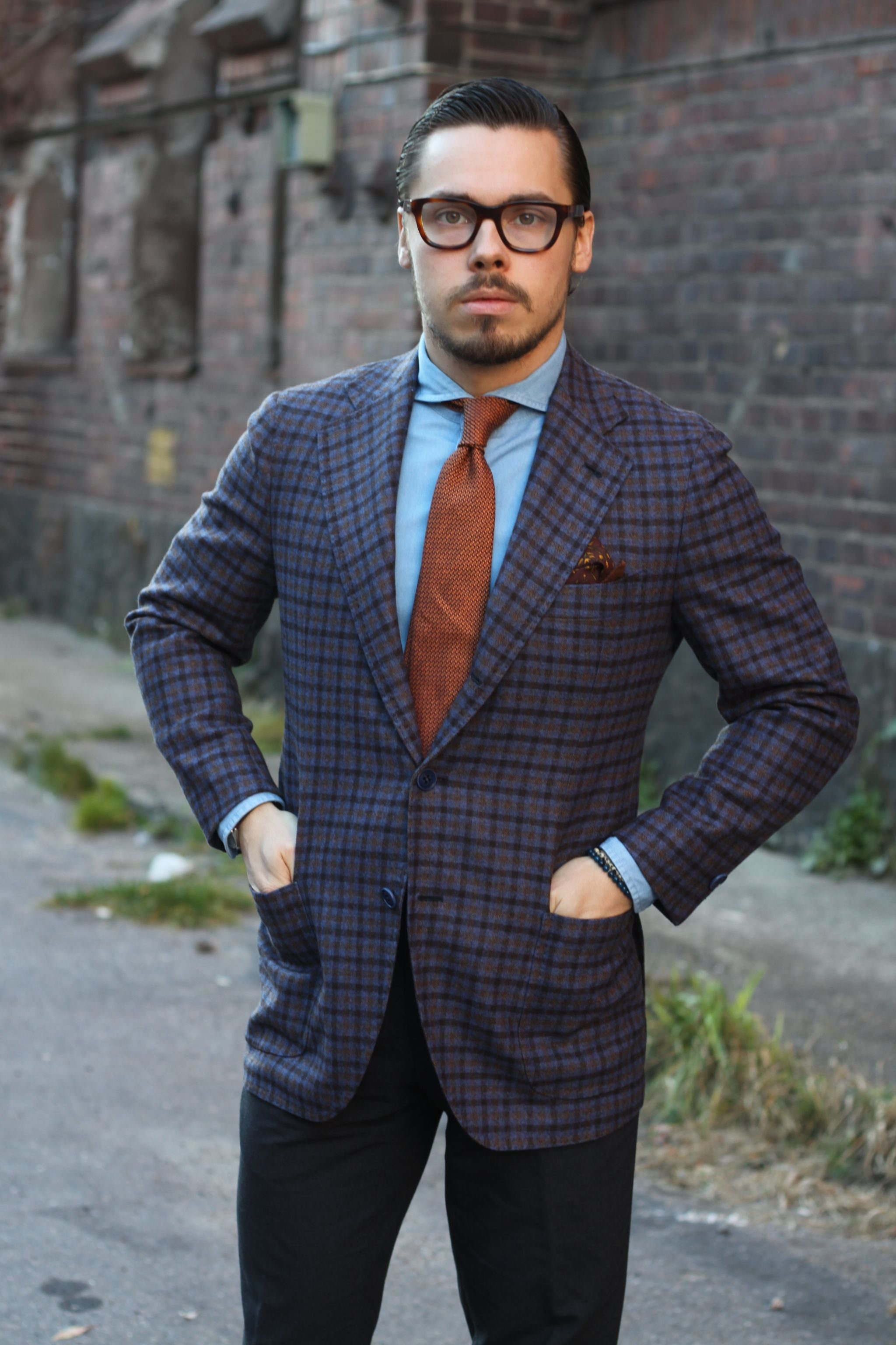 Wool sport coat by Gabo Napoli with mtm Proper Cloth denim shirt
