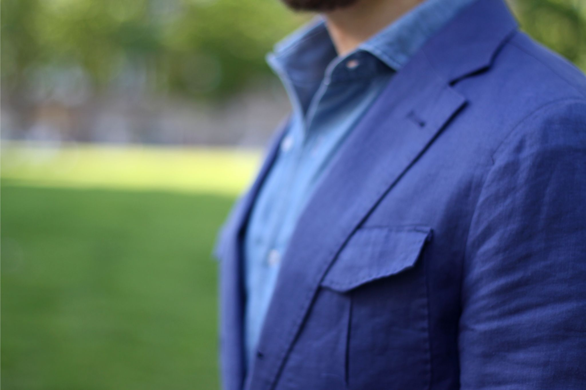 details linen safari jacket