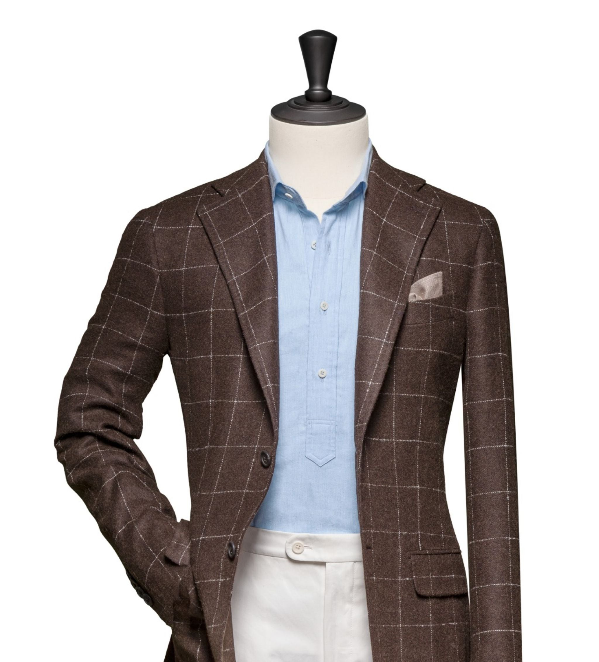 How to combine suits and sport coats - windowpane sport coat with light blue popover