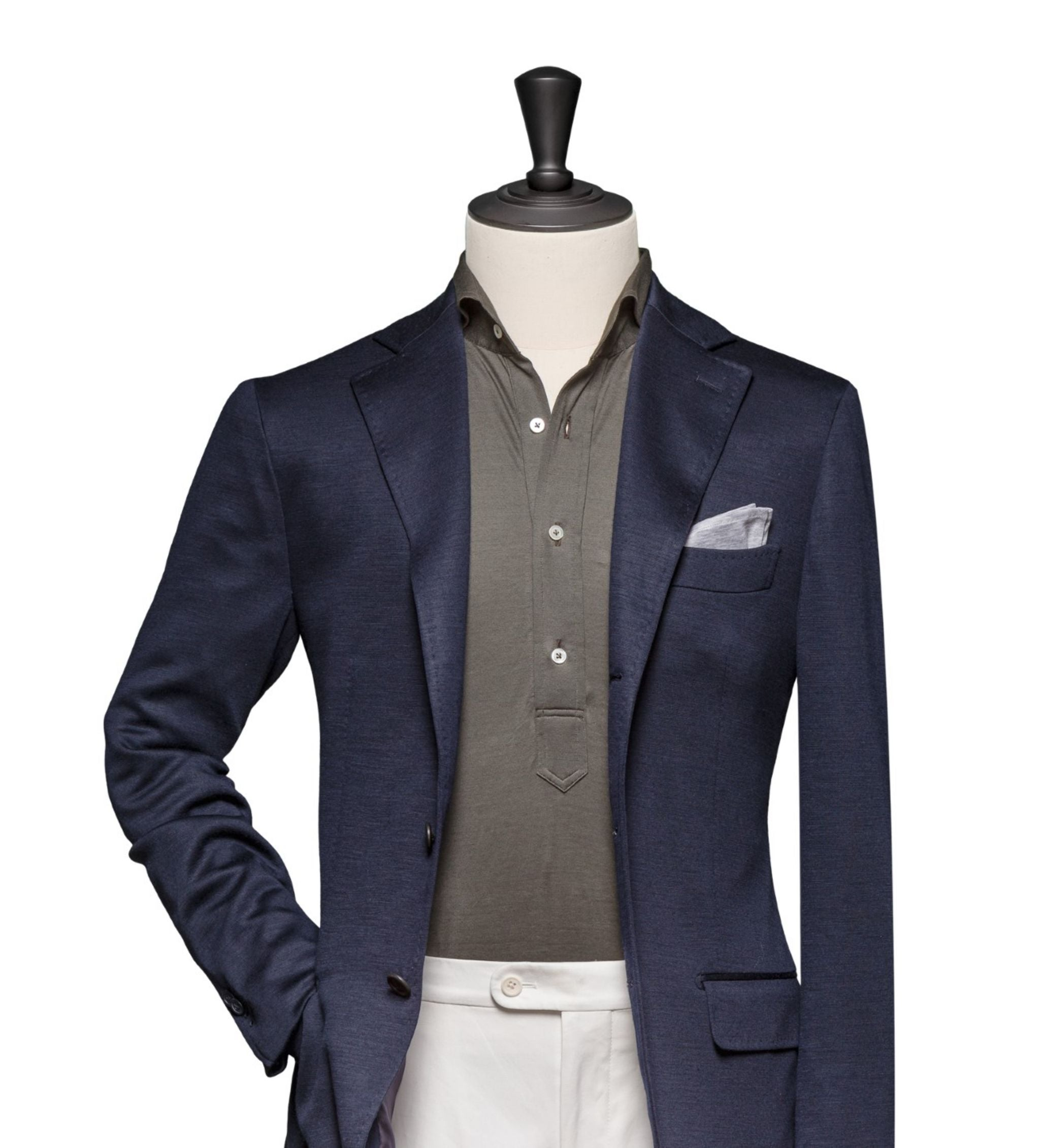 How to combine suits and sport coats - Navy blue wool blazer with cotton slacks