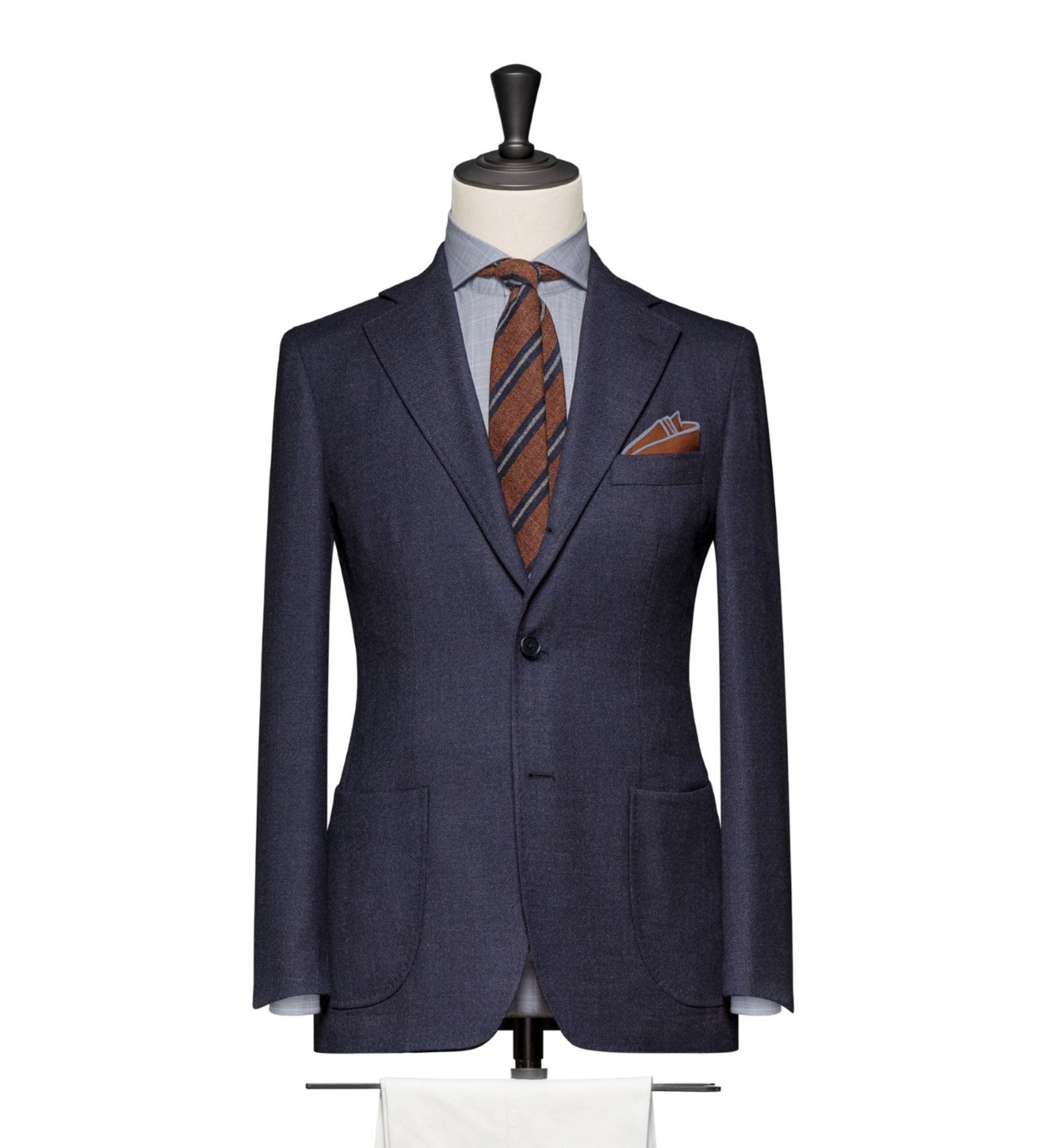How to combine suits and sport coats - blue blazer with white trousers