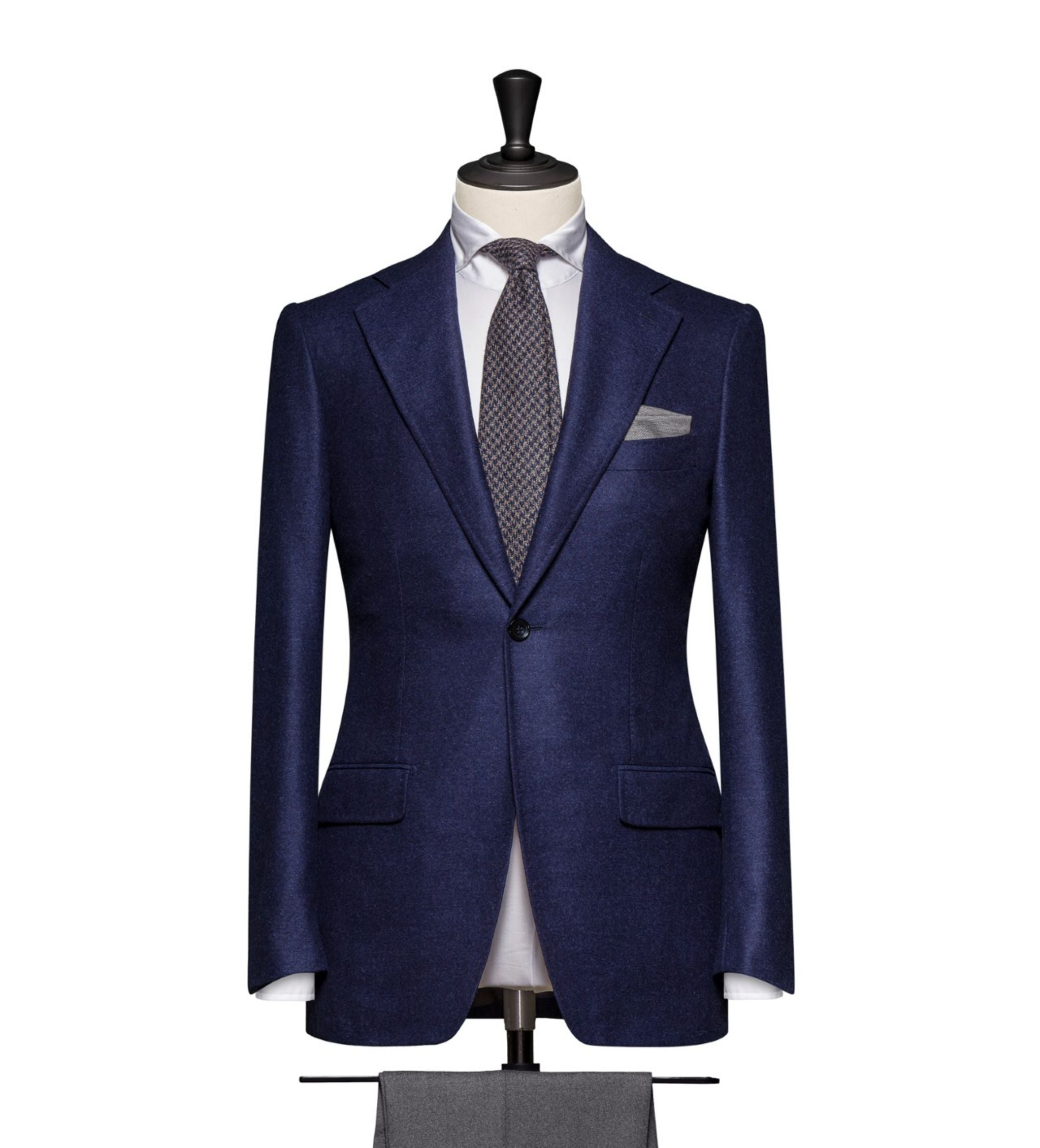 How to combine suits and sport coats - navy blue blazer with gray flannel trousers
