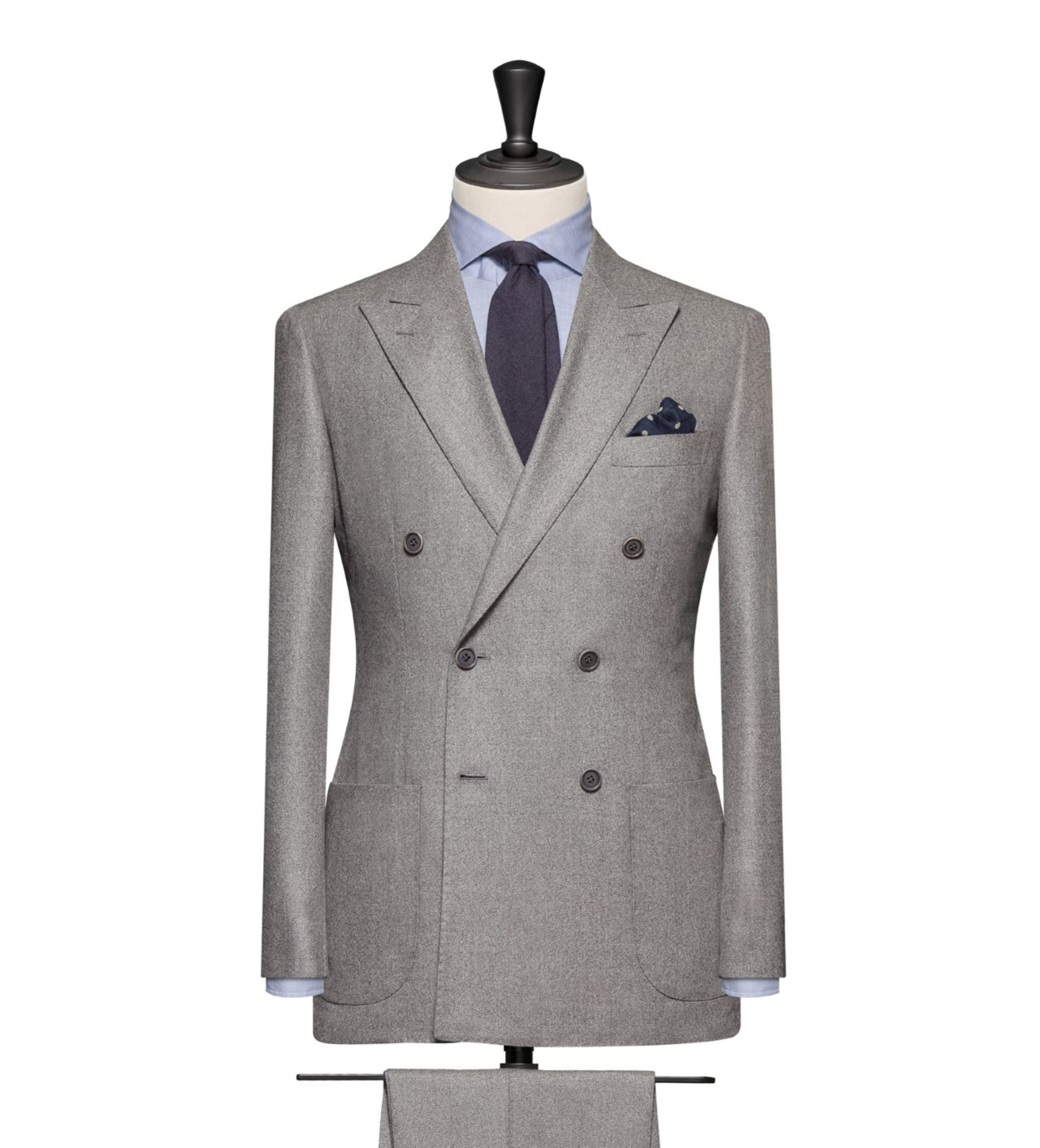 How to combine suits and sport coats - double-breasted gray flannel suit