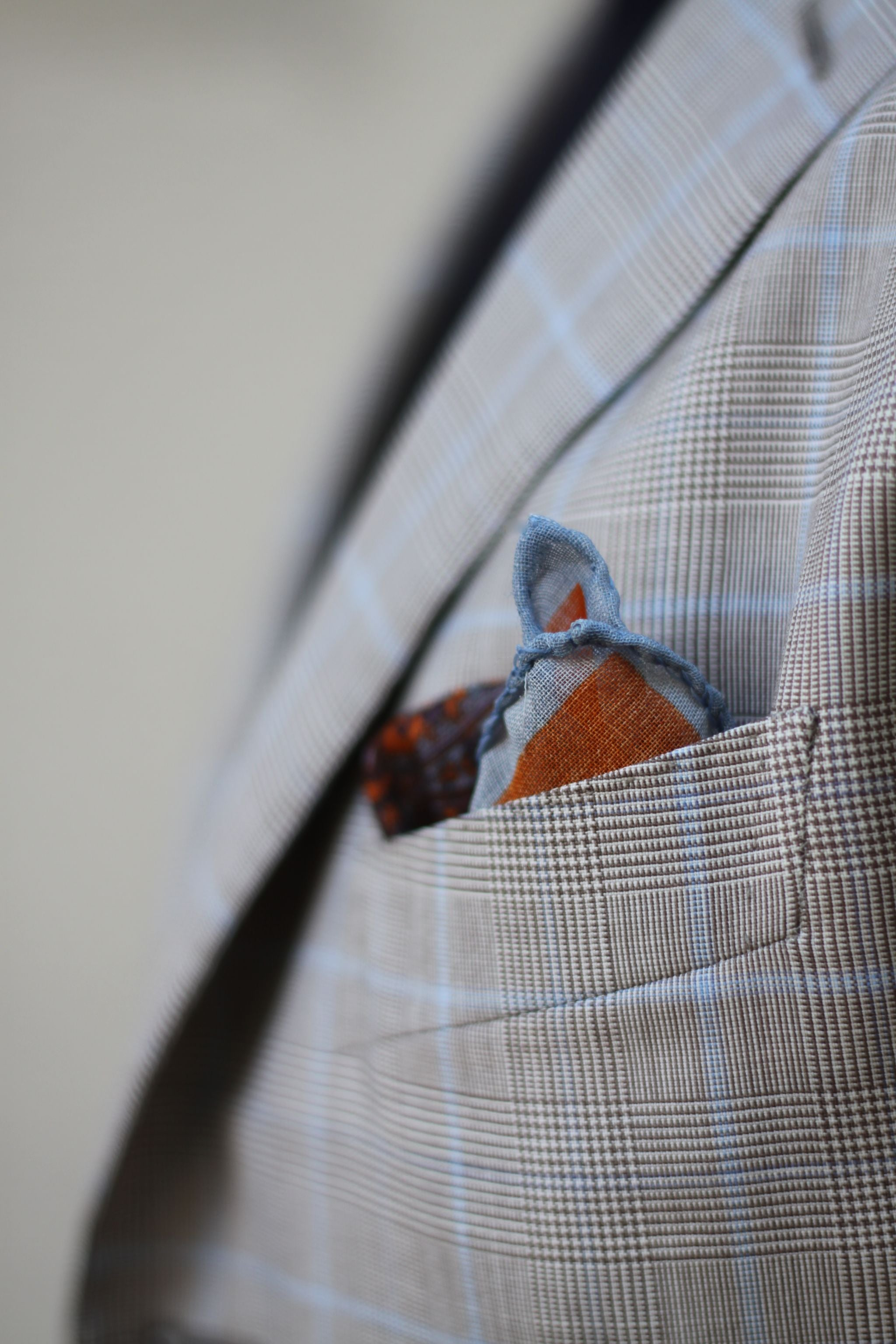 pocket square details by Viola Milano