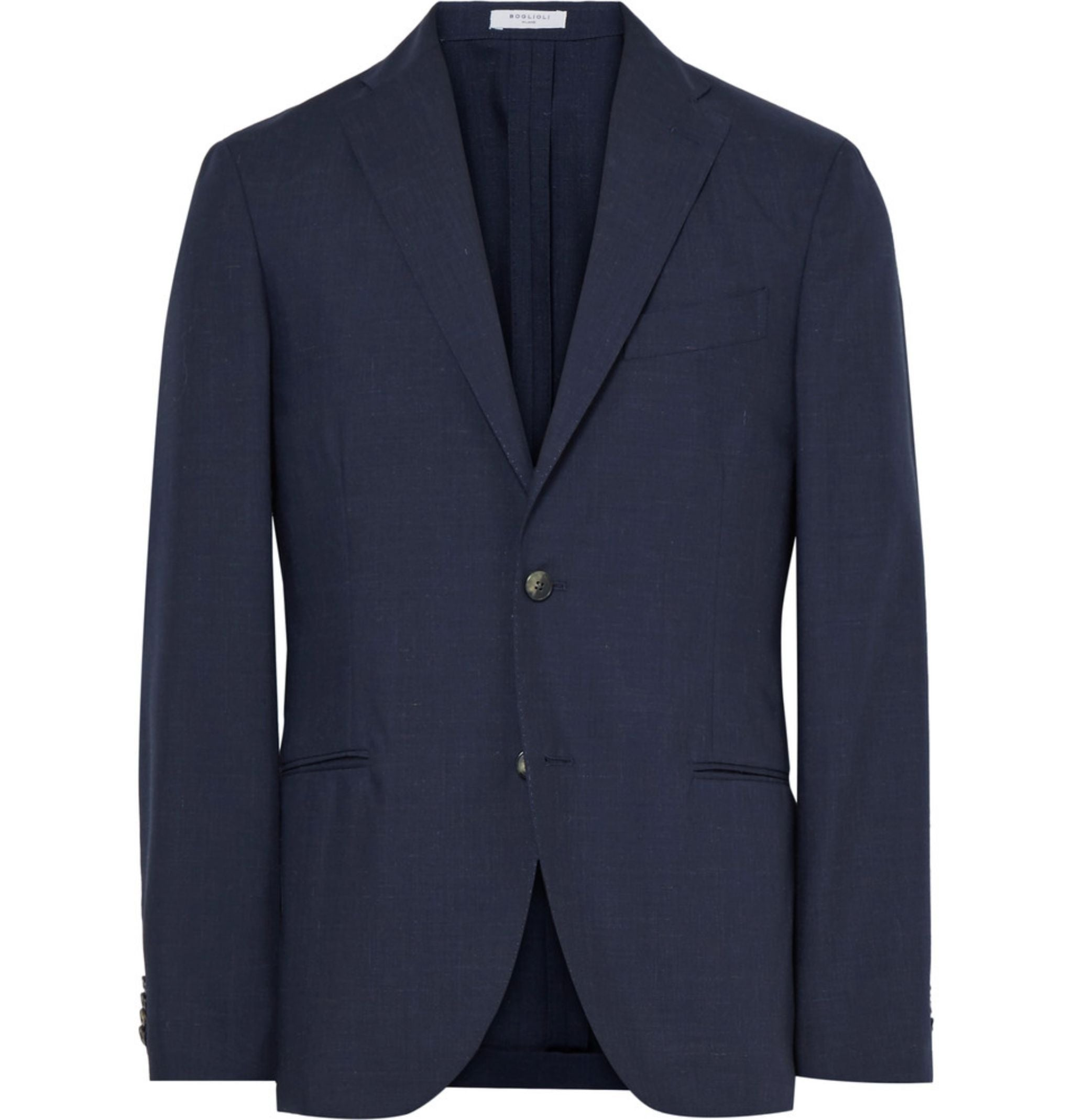 sport coat for spring and summer - navy blue blazer by Boglioli