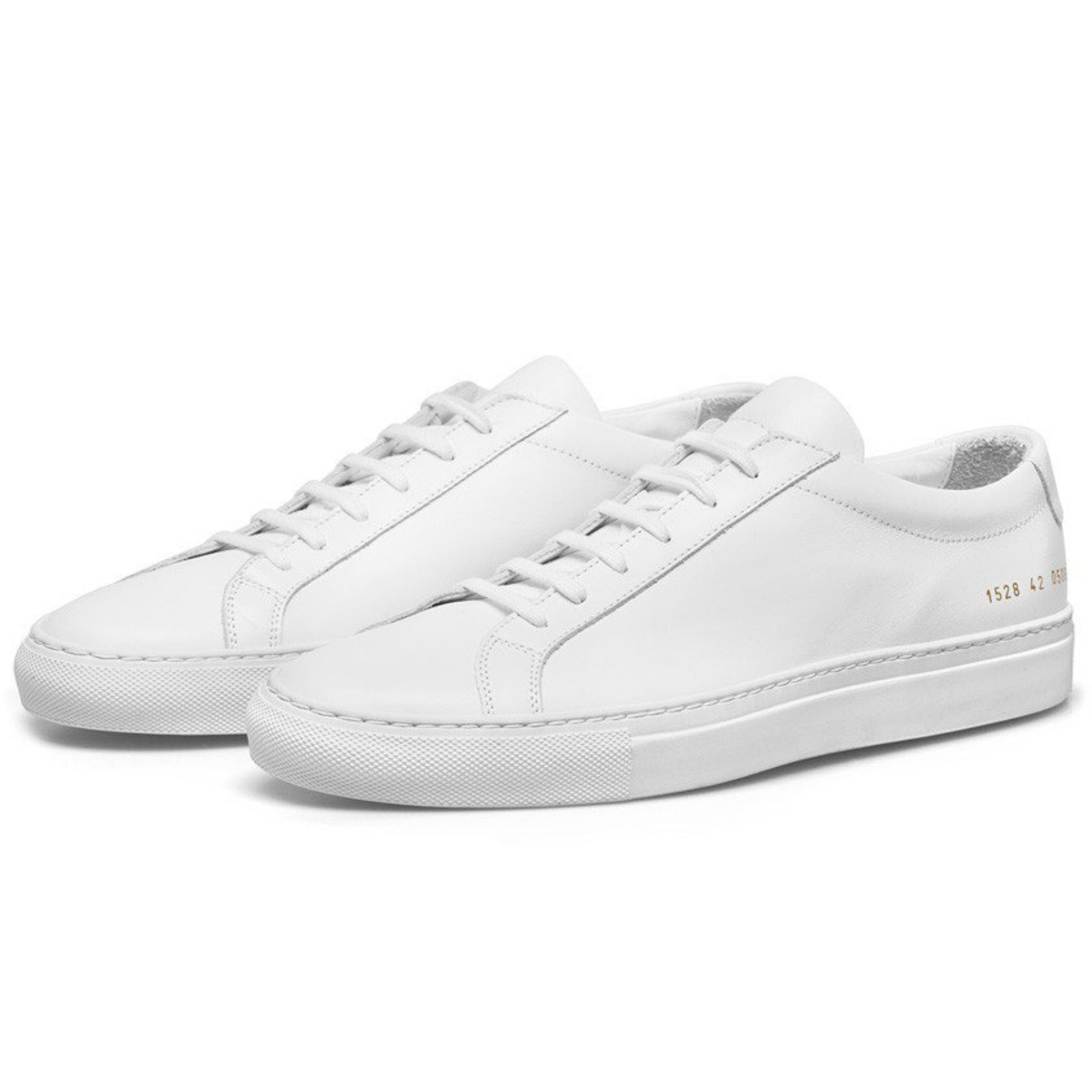white classic sneakers common projects achilles low