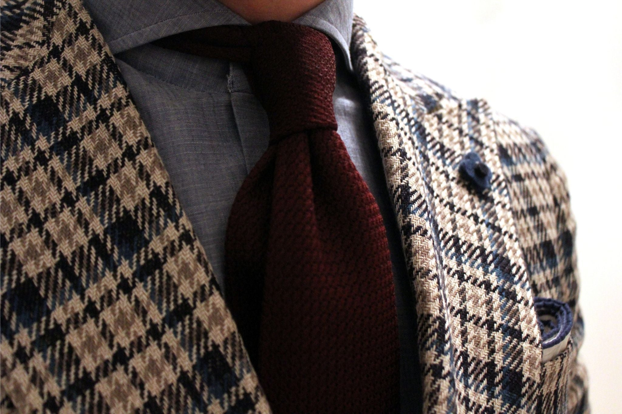 wine red grenadine tie