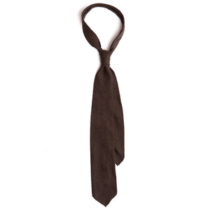 Dark Brown Shantung Tie