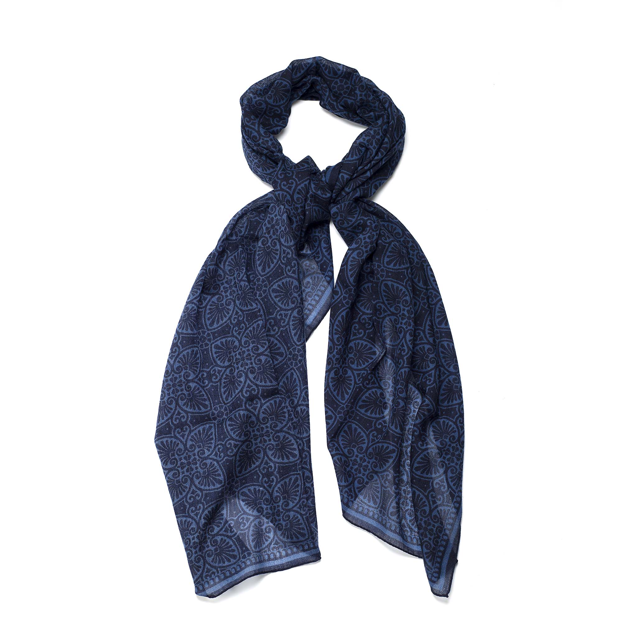 Dark blue wool scarf