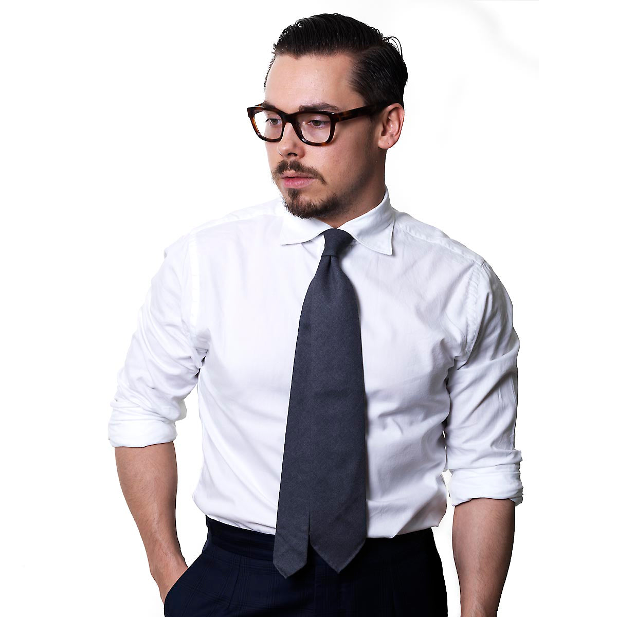 White lightweight oxford shirt