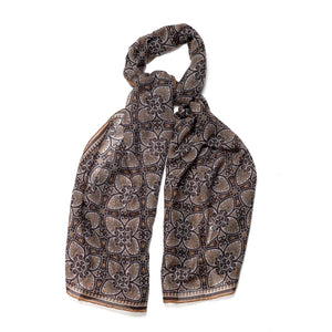 Light brown wool scarf