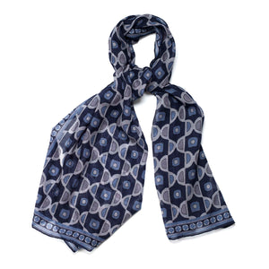 Navy wool scarf
