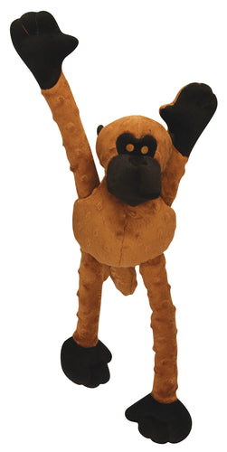 Go Dog Monkey Crazy Tug Small Brown