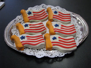 American Flag Doggie Cookie - New England Dog Biscuit - Bag of 4