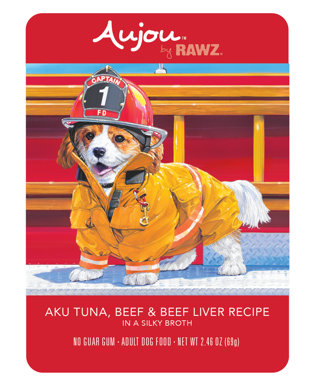 Aujou Aku Tuna, Beef & Beef Liver Dog Food Pouch Box Of 8/2.5 Oz Each