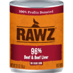 Rawz 96% Beef & Beef Liver Canned Dog Food Case Of 12/12.5 Oz Cans