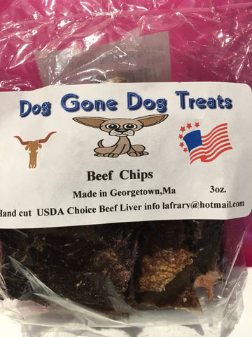 Dehydrated Beef Chips - 3 oz. Bag - Qty of 3