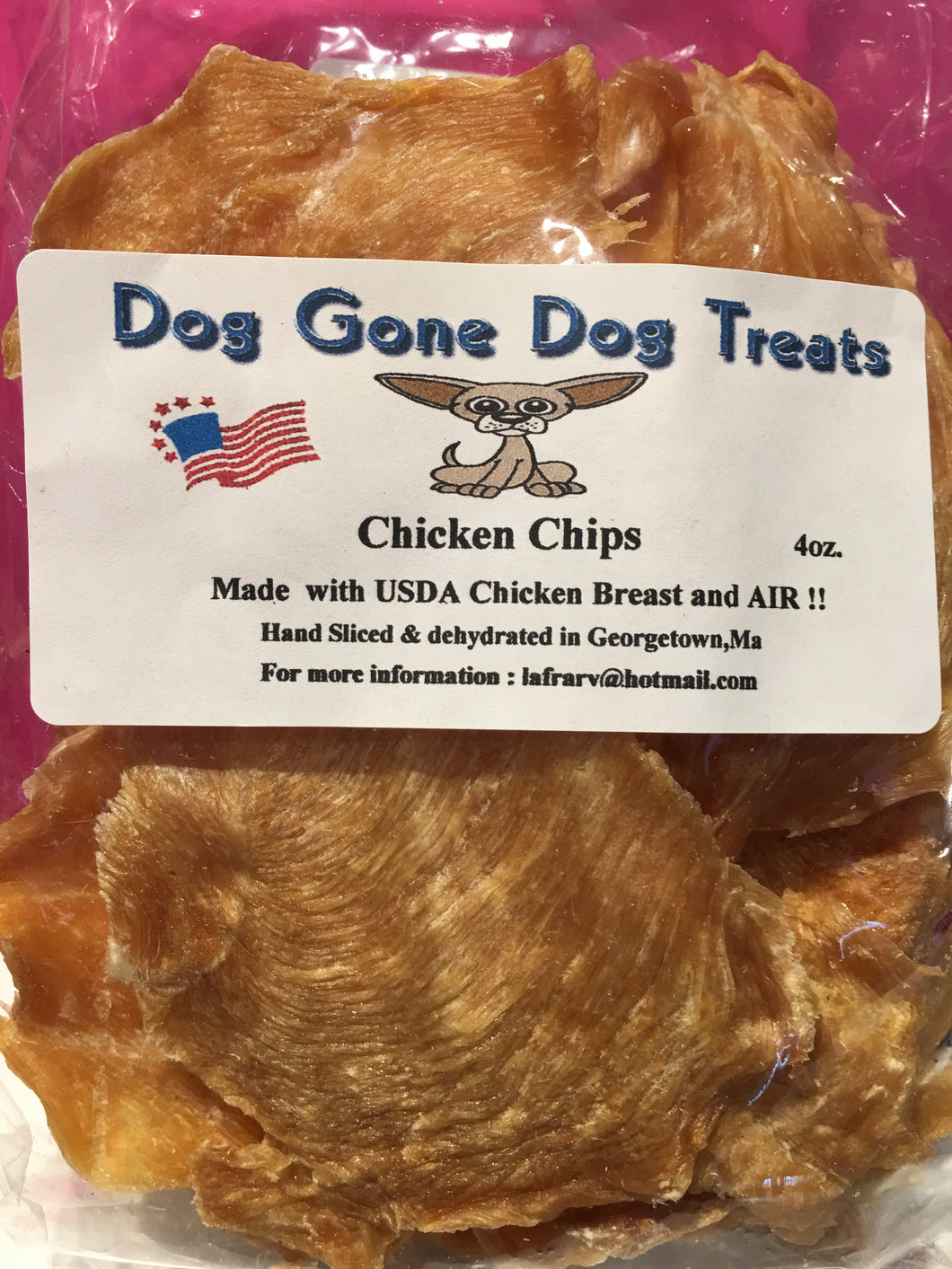 Dehydrated Chicken Chips - 4 oz. bags - Qty of 3