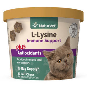 NaturVet Cat Immune Lysine Soft Chew 60 Ct