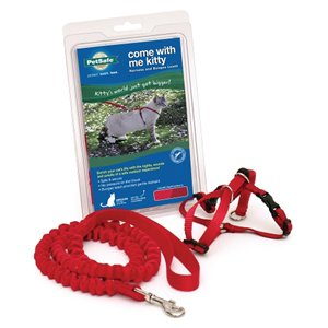 Premier Pet Come With Me Kitty Harness & Bungee Lead Dusty Rose Large
