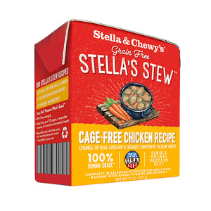 STELLA & CHEWY'S DOG STEW CAGE FREE CHICKEN CASE OF 12/ 11OZ BOXES
