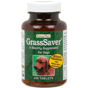 Naturvet Grasssaver Healthy Supplement For Dogs 250tabs